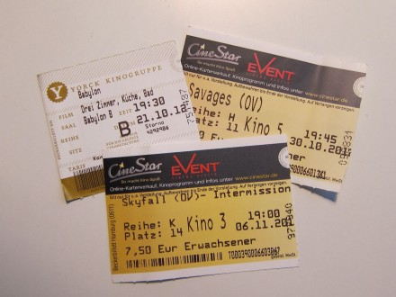 Kinokarten Herbst 2012